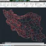 نقشه اتوکدی راههای ایران